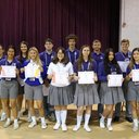 Students competing in the UL-Lafayette District Literary Rally were recognized. Those placing in the top 3 went on to participate in the State Literary Rally at LSU
